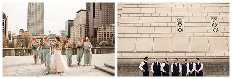 bridesmaids, groomsmen, bride and groom action photographs