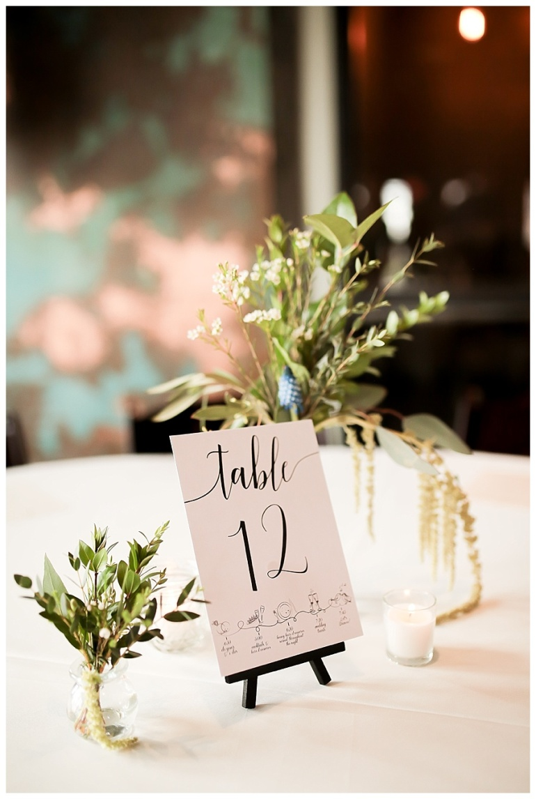 table centerpiece at reception