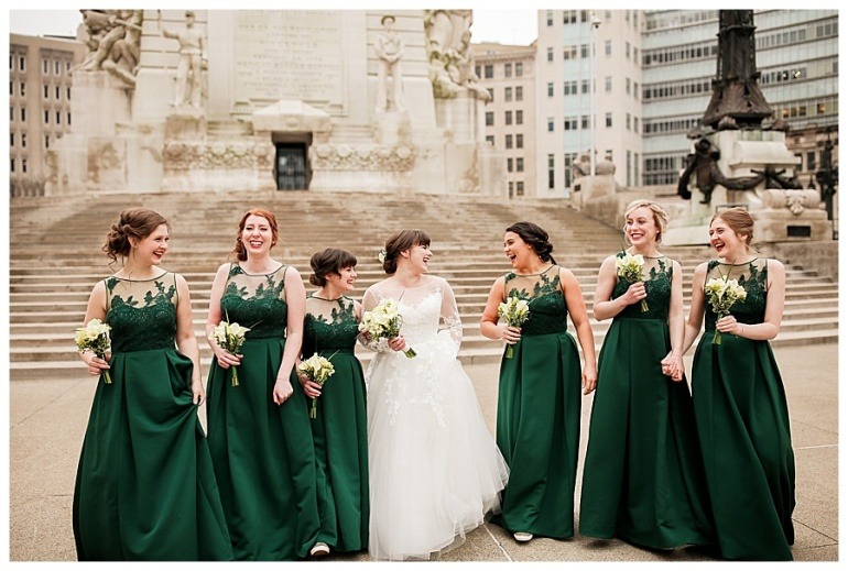 monument-circle-indianapolis-bride-dress-bridesmaids-photography
